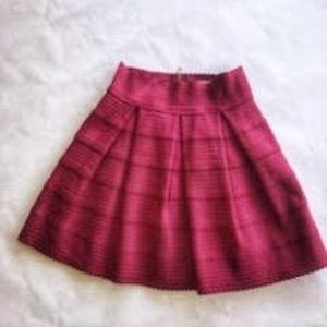Pink Pleated Mini Skirt by Dina be Medium